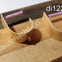 Gancho de aro baño de oro opaco, 22 mm de largo x 12 mm de ancho por par