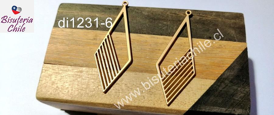 Base de aro baño de oro opaco, 50 x 18 mm, por par