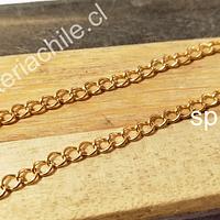 cadena acero dorado, 4 x 3 mm, por metro