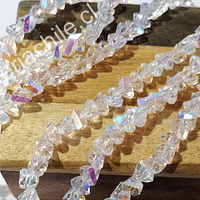 cristal tornasol en forma de triángulo, de 6 mm, tira de 98 cristales aprox