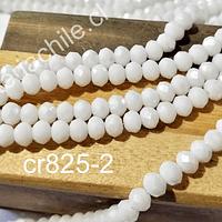 Cristal facetado 6 mm color blanco con, tira de 90 cristales