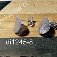 Base de aro baño de plata, 11 mm, por par