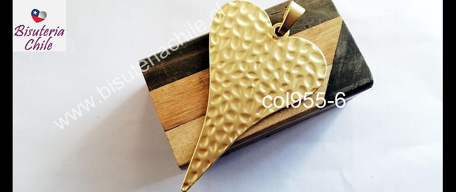 Colgante en forma de corazón baño de oro opaco, 85 x 59 mm, por unidad, san valentin