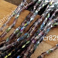 Cristal facetado tornasol, especial excelente calidad, 4 x 2 mm, set de 98 cristales aprox.