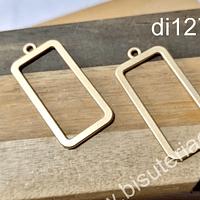Base de aro baño de oro opaco, 31 x 17 mm, por par