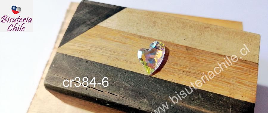 Cristal excelente calidad austriaco, tornasol, 17 mm de largo x 13 mm de ancho, por unidad