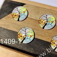 Vidrio con diseño, especial para base cambuchón, 18 mm, set de 4 unidades