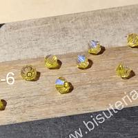 Cristial Austriaco tupi de 4 mm, set de 10 unidades