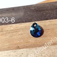 Cristal austriaco en forma de gota azul, 10 x 8 mm, por unidad