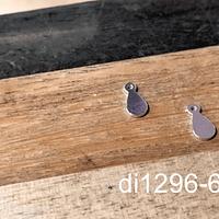Dije de plata 924, en foma de gota, 7 x 3 mm, por par