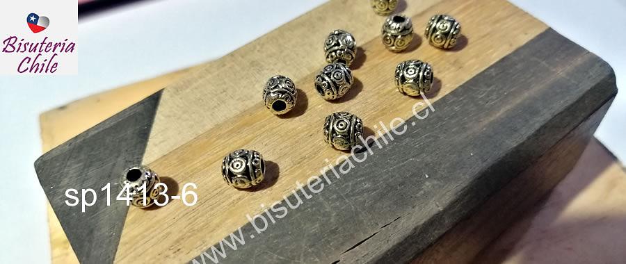 Separador dorado, 6,5 x 6 mm, set de 10 unidades