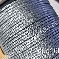 Imitación cuero grueso, de 3 mm, en color gris, por metro
