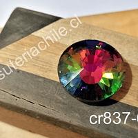 Cristal con forma tornasol, con orificio superior, 30 mm de diámetro, set de 1 unidad
