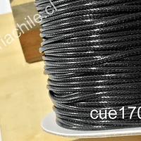 Imitación cuero grueso, de 3 mm, en color negro, por metro