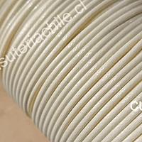 Imitación cuero grueso, de 3 mm, en color beige o crema, por metro
