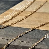 Cadena acero dorado, 2 x 2 mm, por metro