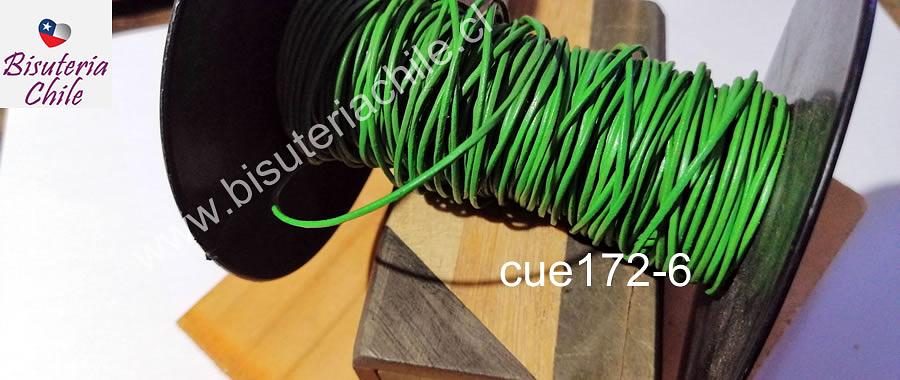 Cuero verde, de 1 mm, por metro
