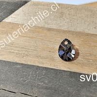 Cristal austriaco en forma de gota gris, 10 x 8 mm, por unidad