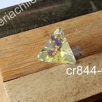 Cristal Austriaco tornasol en forma de triangulo, 16 x 15 mm, 1o mm de ancho, por unidad