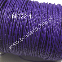 Hilo encerado 70 mts, color morado