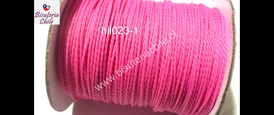Hilos, Hilo encerado 70 mts, color rosado fuerte