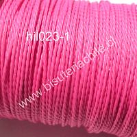 Hilo encerado 70 mts, color rosado fuerte