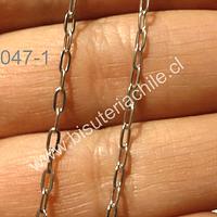 Cadena de acero inoxidable, eslabon de 3,5 mm de largo por 2 mm de ancho, por metro