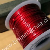 Simil cuero rojo 1 mm de espesor, rollo de 50 metros