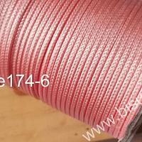 Imitación cuero grueso, de 3 mm, en color rosado, por metro