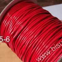 Imitación cuero grueso, de 3 mm, en color rojo, por metro