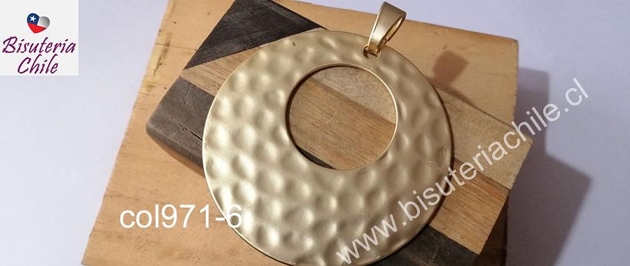 Colgante baño de oro opaco, 68 mm de diámetro, por unidad