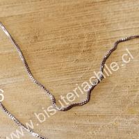 Collar de acero cuadrada, 1,2 mm, 48 cm de largo, por unidad