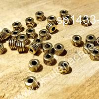 Separador dorado, 3 x 4 mm, set de 30