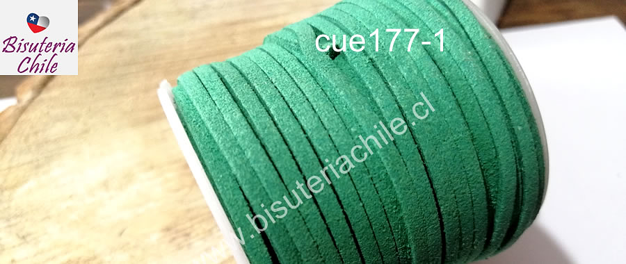 Gamuza 3 mm verde rollo de 30 metros