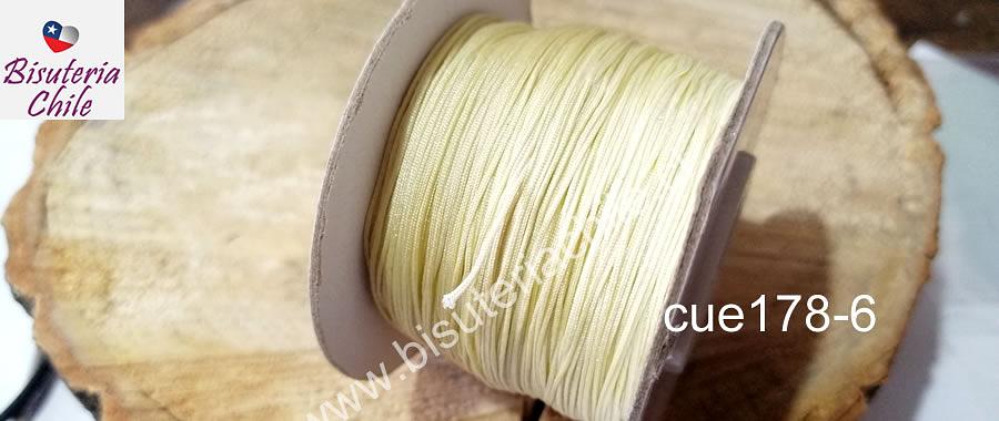 Hilos, Hilo chino color crema, 0,5 mm de ancho, rollo de 150 metros