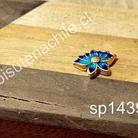 Separador étnico en forma de flor de loto, esmaltado de aleación, 16 x 11 mm, por unidad