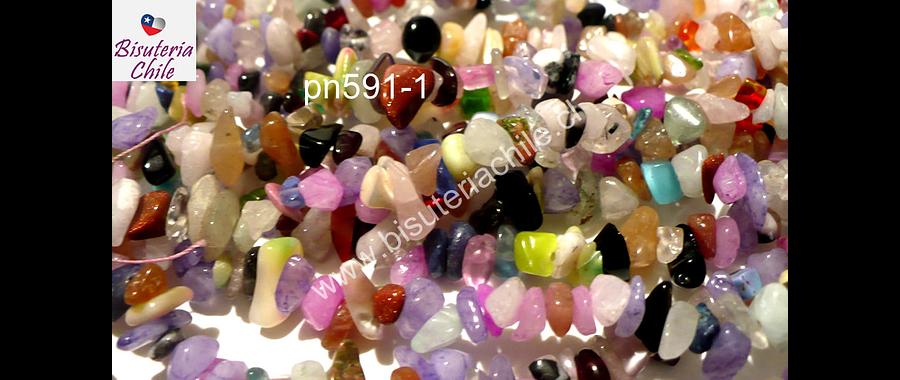 Piedra chip mix, tira de 85 cm aprox. tamaño de piedra chico