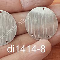Base baño de plata, con agujeros, 26 mm, por par