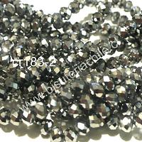 cristal plateado 4 mm, tira de 130 cristales aprox.