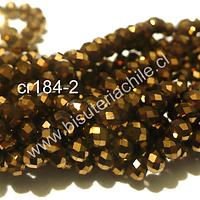 cristal dorado cobrizo 4 mm, tira de 130 cristales aprox.