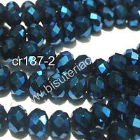 cristal azul brillante 6 mm, tira de 100 cristales aprox