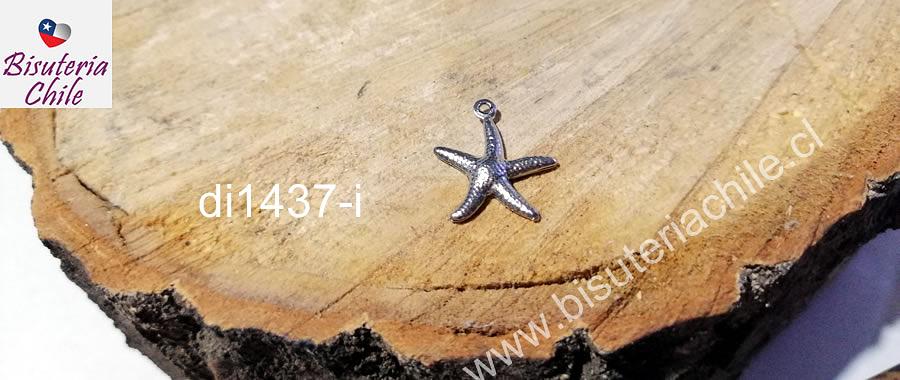 Dije estrella de mar de acero , 18 x 15 mm, por unidad