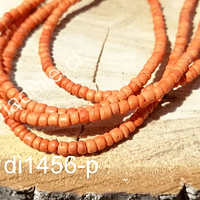 Madera de coco color naranjo, 3 mm de ancho, tira de 170 maderas aprox