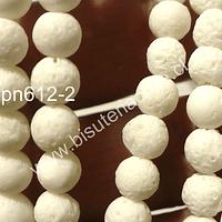Coral blanco en 6 mm, tira de 65 unidades aprox.