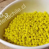 mostacilla amarilla de 2 mm, set de 50 grs