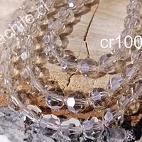 Cristal redondo de 8 mm, color champagne, tira de 30 cristales aprox