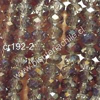 Cristal gris brillante 6 mm x 4 mm, tira de 100 cristales aprox