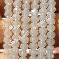 cristal blanco piedra luna 4 mm x 2 mm, tira de 148 cristales aprox