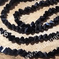 cristal negro en forma de triángulo, de 6 mm, tira de 98 cristales aprox