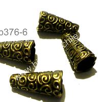 Casquete envejecido, 17 mm de largo por 8 mm de ancho, set de 4 unidades